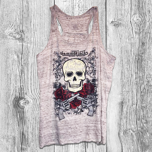 Womens Rhinestone Skull Tank