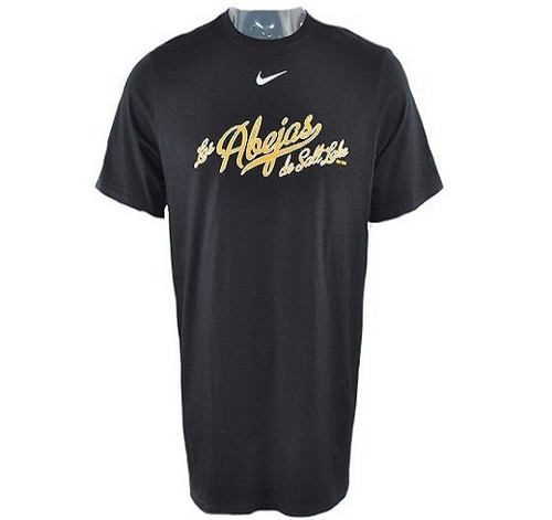 Full Abejas Swoosh Tee - Mens ApparelTees - Salt Lake Bees - - Black - BSN Sports