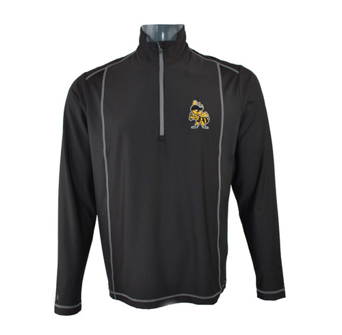 Tempo Comtemporary 1/4 Zip Jacket  - MensOuterwearJacketsPullover - Salt Lake Bees - - Black - Antigua