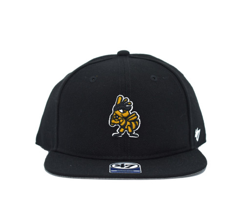 Youth Lil Shot Captain Bee Logo  - HeadwearAdjustableSnapbackYouth - Salt Lake Bees - - Black - 47 Brand
