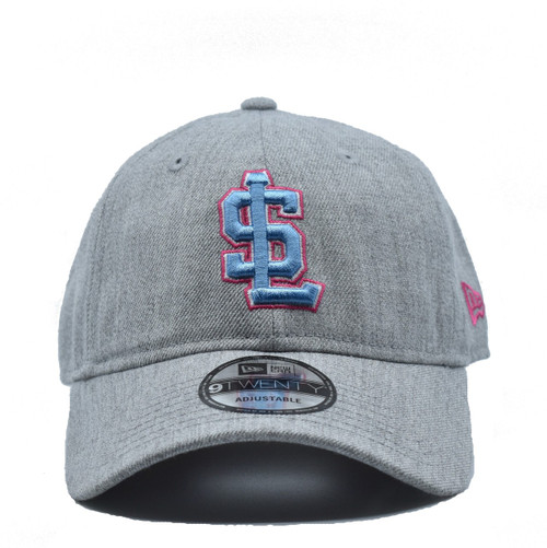 W Heather Gray Blue 920  - HeadwearAdjustableSlouchWomens - Salt Lake Bees - - Gray - New Era
