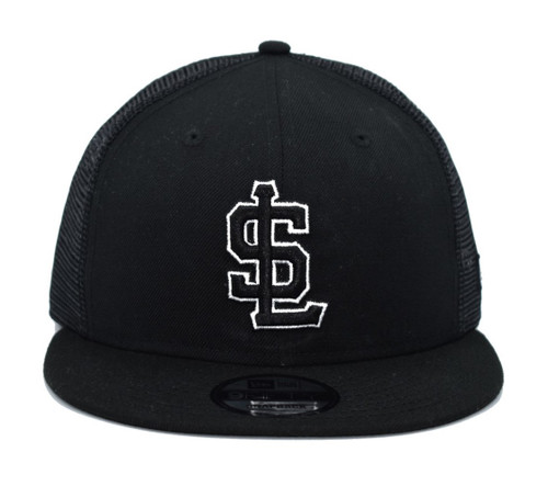White on Black SL Mesh 950  - HeadwearAdjustableSnapbackMens - Salt Lake Bees - - Black - New Era
