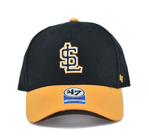 Youth Short Stack MVP SL Logo  - HeadwearAdjustableFlexYouth - Salt Lake Bees - - Black - 47 Brand