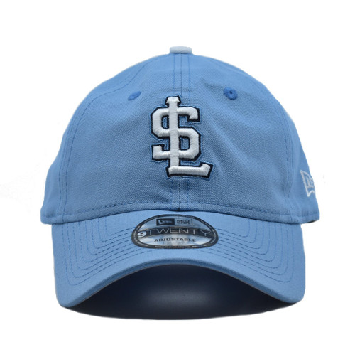 W Blue Canvas 920  - HeadwearAdjustableSlouchWomens - Salt Lake Bees - - Blue - New Era