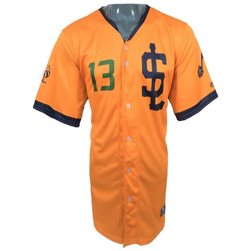 Jazz Bees Authentic Jersey - NoveltyCollectiblesMemorabilia - Salt Lake Bees - 13 - Gold -