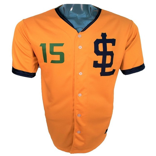 Jazz Bees Authentic Jersey - NoveltyCollectiblesMemorabilia - Salt Lake Bees - 15 - Gold -