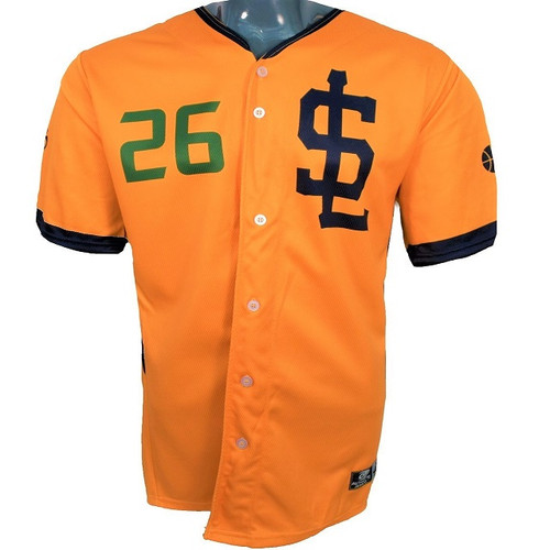 Jazz Bees Authentic Jersey - NoveltyCollectiblesMemorabilia - Salt Lake Bees - 26 - Gold -