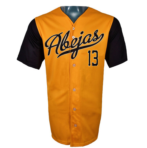Abejas Authentic Jersey - NoveltyCollectiblesMemorabilia - Salt Lake Bees - 13 - Gold -