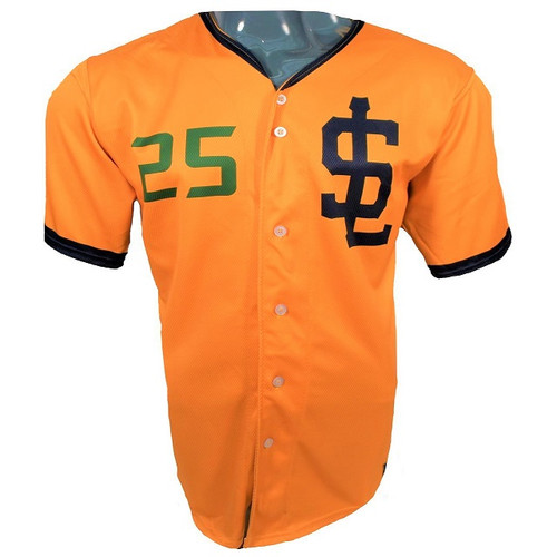 Jazz Bees Authentic Jersey - NoveltyCollectiblesMemorabilia - Salt Lake Bees - 25 - Gold -