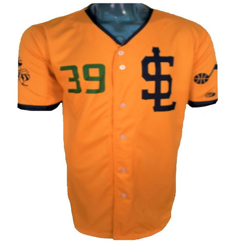 Jazz Bees Authentic Jersey - NoveltyCollectiblesMemorabilia - Salt Lake Bees - 39 - Gold -
