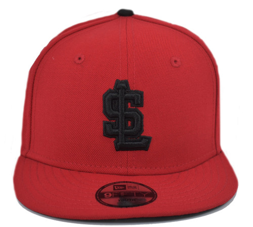 Yth Red Black 950 - HeadwearAdjustableSnapbackYouth - Salt Lake Bees -  - Red - Vendor Name
