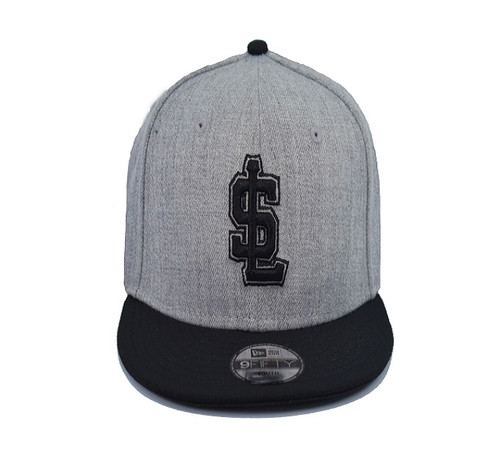 Yth Heather Gray 950 - HeadwearAdjustableSnapbackYouth - Salt Lake Bees -  - Gray