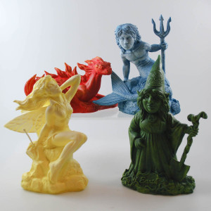 Elementals - Hand cast statues (Set of four)