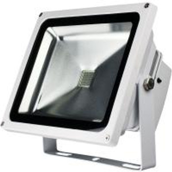 CM-RCM-GB Color LED Flood Light with Remote Controller / IP65 / AC 120V / 20W / White Case
