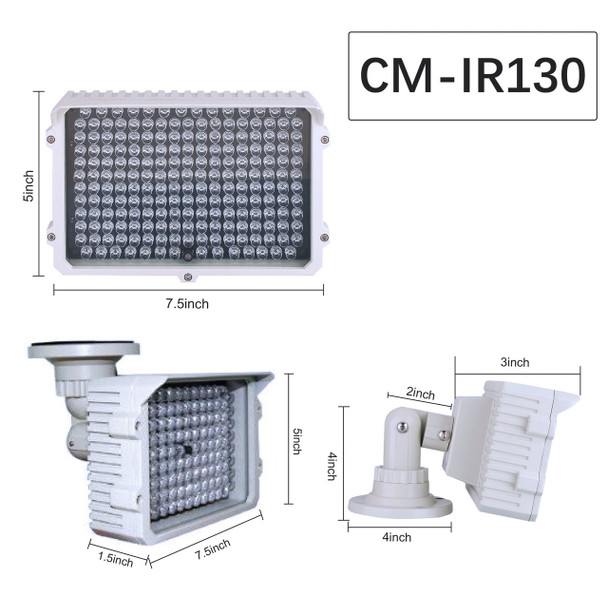 CMVision CM-IR130-940 NM 198 LEDS  300-400ft Long Range IR Illuminator