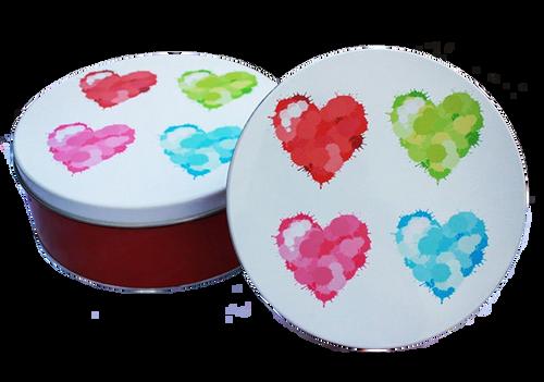 Hearts Tin Cookie Sampler
