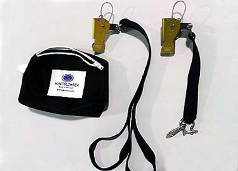 MastClimber Kit: Ascenders, Footstrap, Upper Extension, Bag