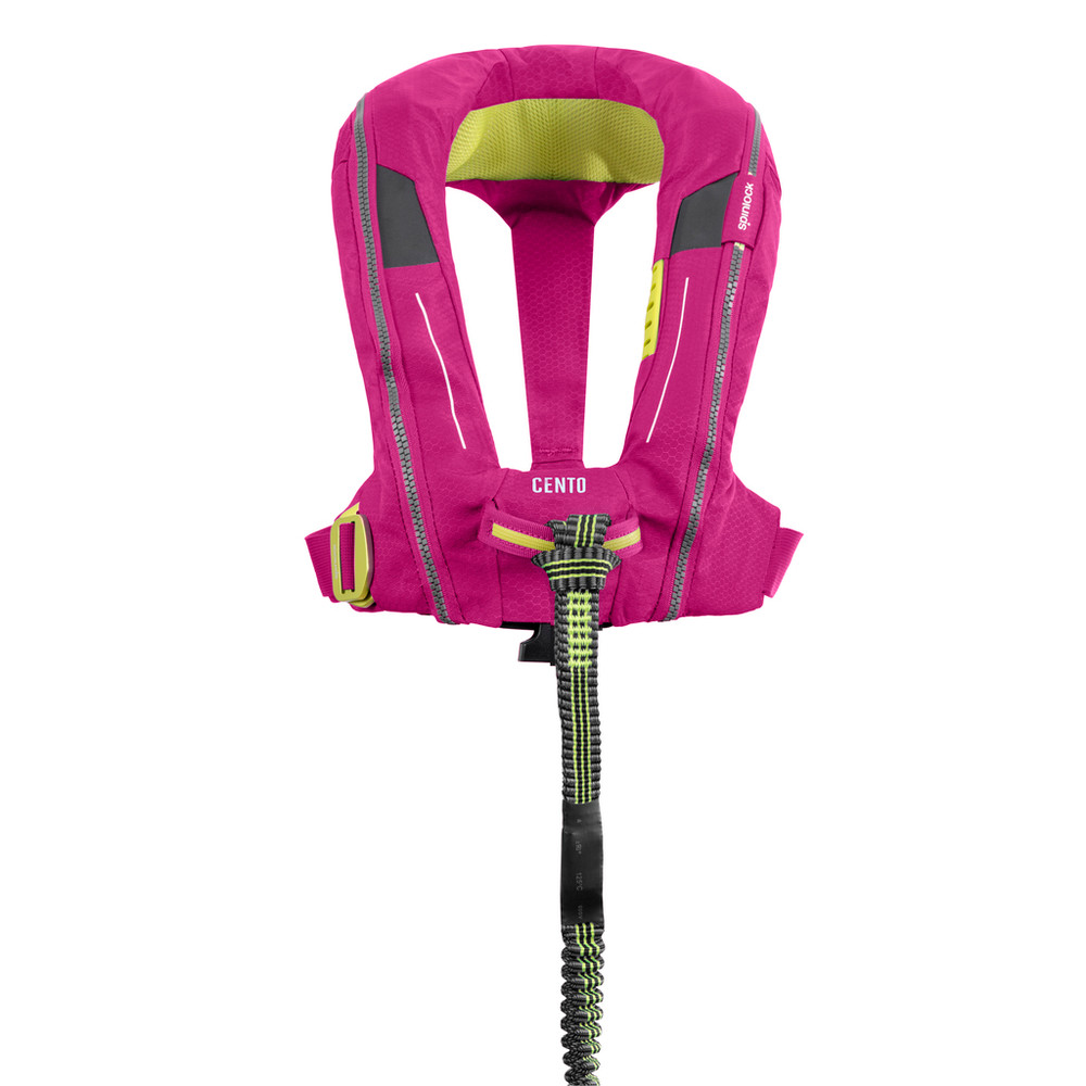 Spinlock Cento Junior Grenadine Pink with front loop detail