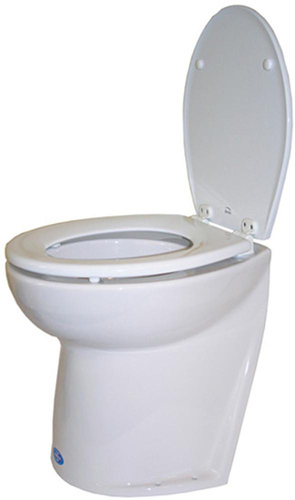 Jabsco Deluxe Silent Flush Electric Toilet - Slanted Back