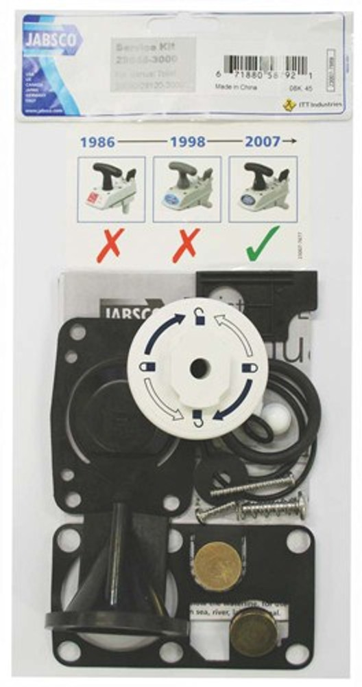 Jabsco Deluxe Silent Flush Service Kit