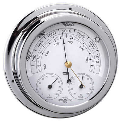 RWB Barometer, Thermometer & Hygrometer Chrome 120mm (RWB4559)