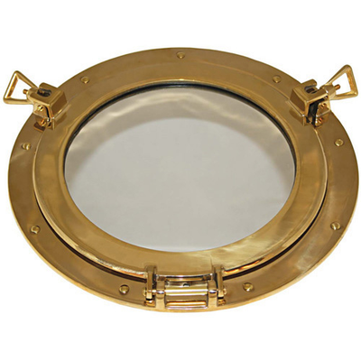 RWB Mirror Brass Porthole 300mm