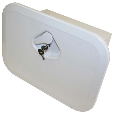 RWB Deluxe Storage Hatch Box with Lock White (RWB2334)