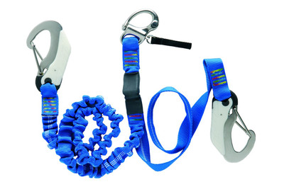 Wichard Tether ORC 1 snap shackle x 2 double safety hooks (7008)