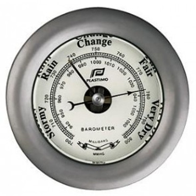 "Plastimo 3"" Barometer Sealed Chrome"
