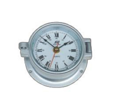 "Plastimo 4 1/2"" Clock Hinged RN Chrome/Matt Chrome"