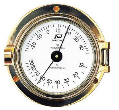 3 inch thermometer-hygrometer porthole