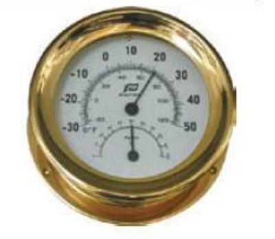 "Plastimo 5"" Thermometer-Hygrometer Porthole"
