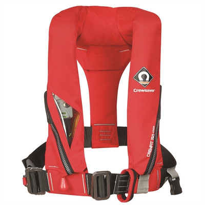 Crewsaver Crewfit 150N Junior Lifejacket - Automatic, Harness, Fiery Red