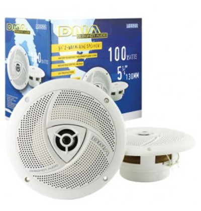 5-inch Round Weatherproof 2-Way 522m Marine Speakers