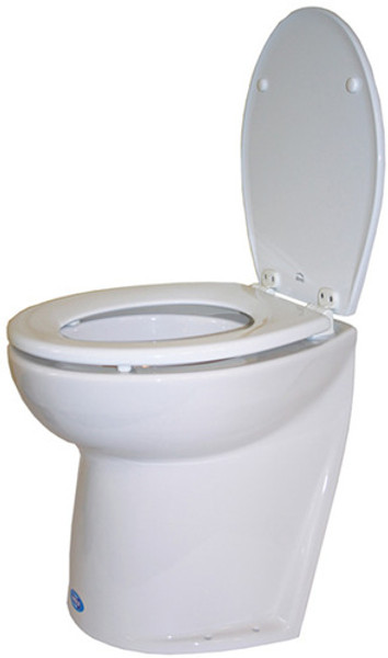 RWB Jabsco Deluxe Silent Flush Electric Toilets - Slanted Back Salt Water Rinse