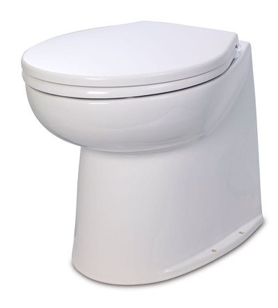 RWB Jabsco Deluxe Silent Flush Electric Toilets - Vertical Back Salt Water Rinse