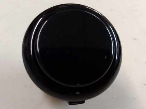 Sanwa Denshi OBSF-30 Solid Colour Snap-In 30mm Pushbutton - Black