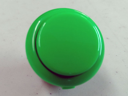 Sanwa Denshi OBSF-30 Solid Colour Snap-In 30mm Pushbutton - Green