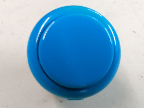 Sanwa Denshi OBSF-30 Solid Colour Snap-In 30mm Pushbutton - Light Blue