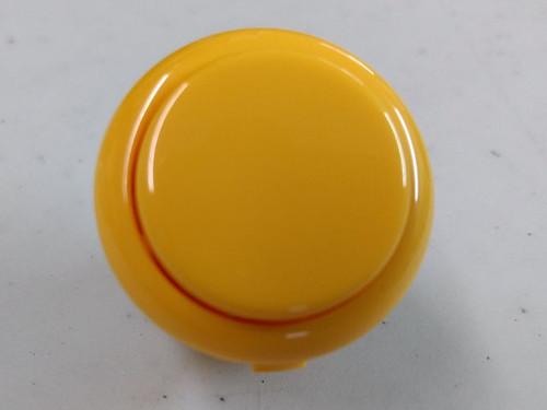 Sanwa Denshi OBSF-30 Solid Colour Snap-In 30mm Pushbutton - Yellow