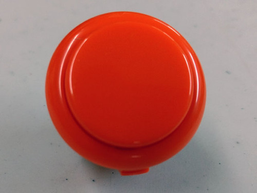 Sanwa Denshi OBSF-30 Solid Colour Snap-In 30mm Pushbutton - Vermillion