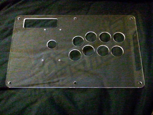 Plexiglass Extended Top Panel Replacement for MadCatz Tournament Edition Joysticks