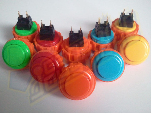 Sanwa Denshi OBSN-24 Solid Colour 24mm Screw-In Pushbutton