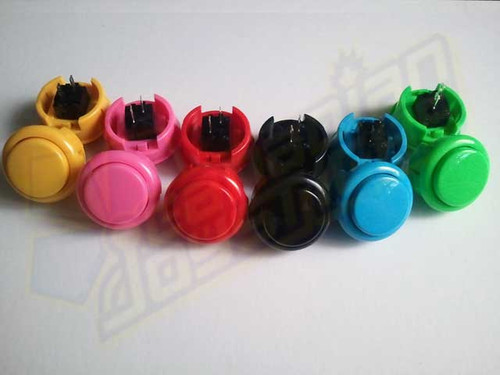 Seimitsu PS-15 Solid Colour 30mm Snap-In Pushbutton