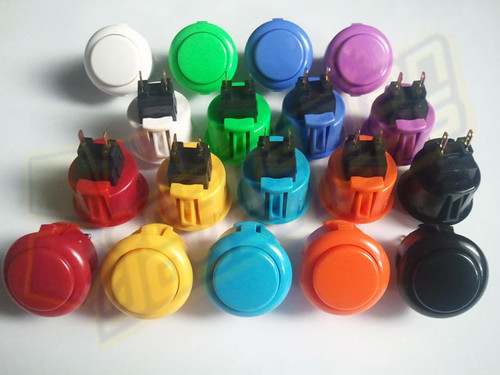 Sanwa Denshi OBSF-24 Solid Colour Snap-In 24mm Pushbutton