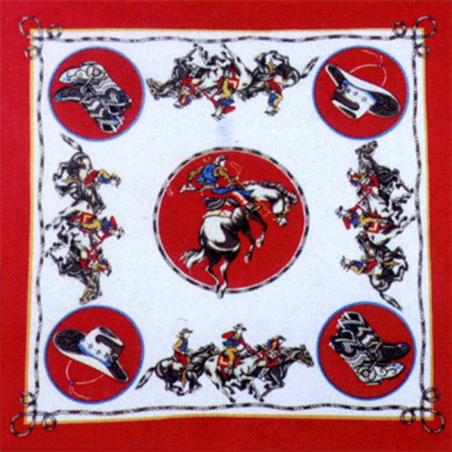 Rodeo Cowboy Saddle Bronc Bandana