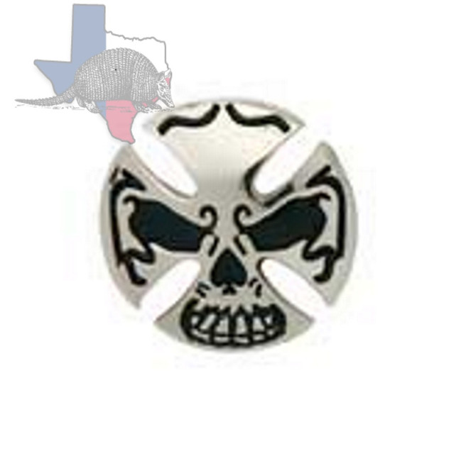 Motorcycle Conchos Skull Cross Concho