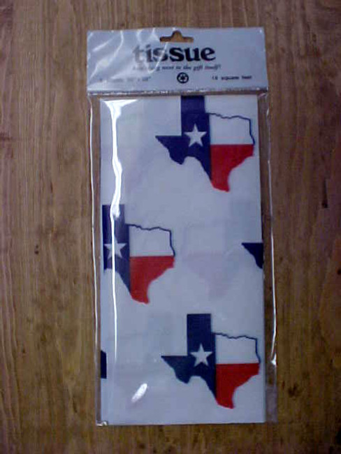 Texas Flag Tissue Paper TX2008