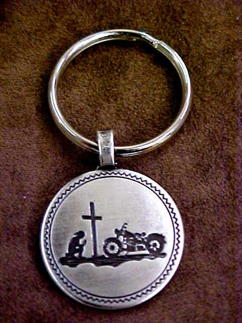 Biker At The Cross Key Fobs KF936A
