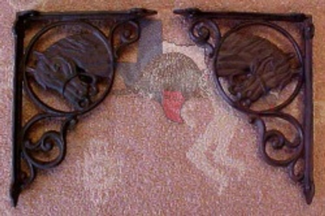 Rustic Horse Shelf Bracket